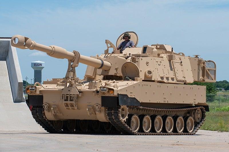 Inside U.S. Army Artillery M109A6 Paladin