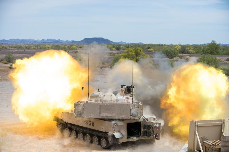 Paladin M109A6 achieves a maximum firing rate of up to eight rounds a minute and a sustained firing rate of one round in three minutes. Credit: BAE Systems / Business Wire.