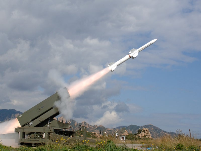 Spada 2000 is a ground-based air defence missile system. Credit: Mbda Systems.