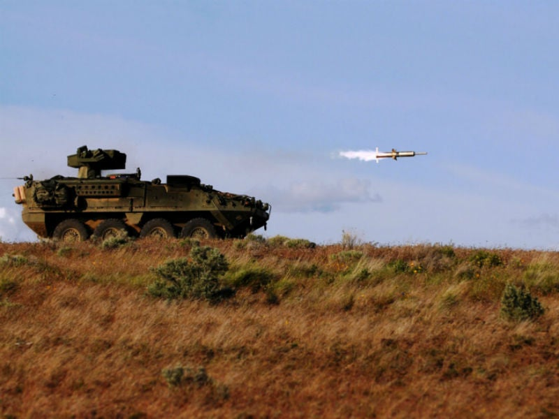 The BGM-71 TOW is a heavy anti-tank missile developed by Raytheon. Credit: US Army