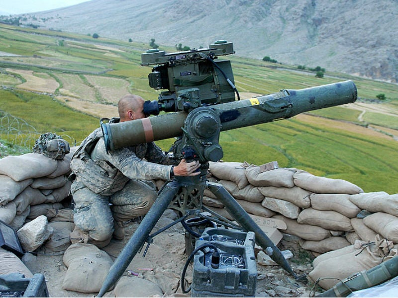 The TOW missile system can be fitted on a tripod-mounted launch tube and military vehicles to launch missiles from ground.