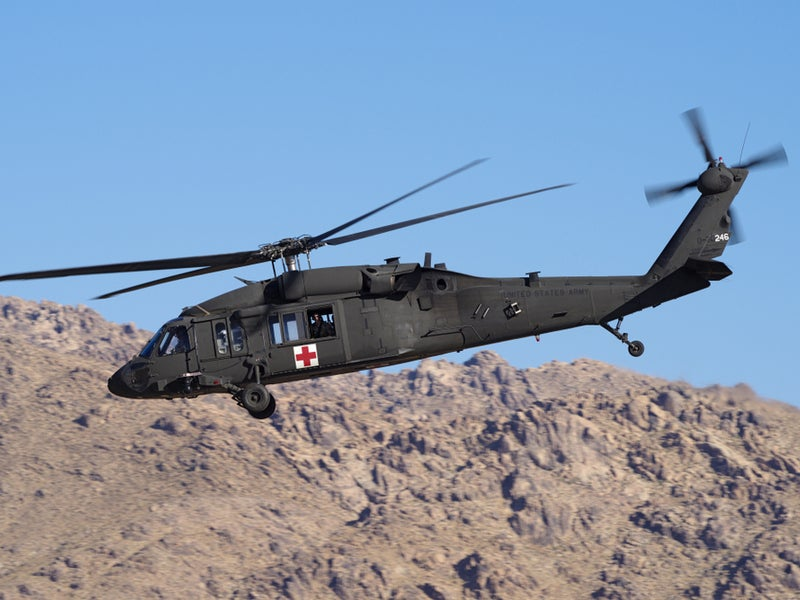 HH-60M Black Hawk is the MEDEVAC variant of the UH-60M Black Hawk helicopter.