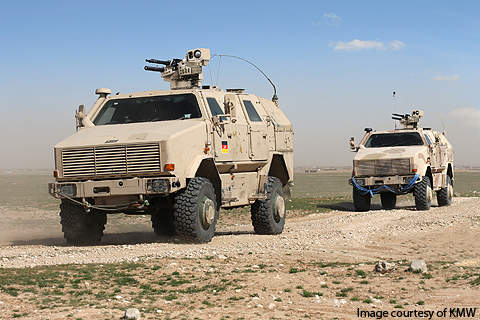 Dingo 2 is an all-protected carrier vehicle (APCV or APV) manufactured by Krauss-Maffei Wegmann.