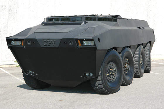 Front view of the GPV Armoured Personnel Carrier