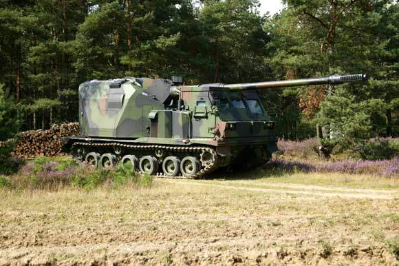 Artillery Gun Module (AGM) entering a field