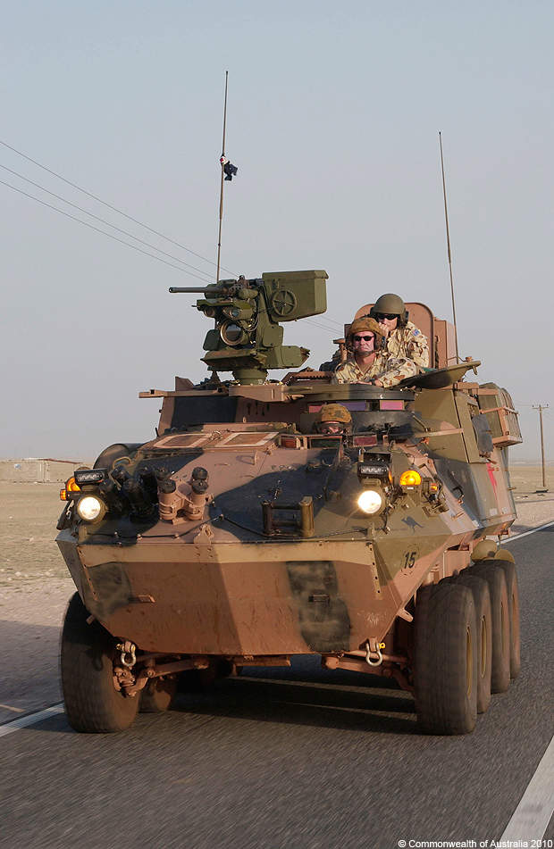 The Australian light armoured vehicle of the Al Muthanna Task Group.