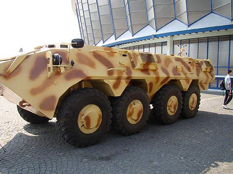 The Saur 2 is an 8x8 wheeled armoured vehicle developed for the Romanian Armed Forces. Image courtesy of Dragoş Anghelache (Magazine Fortelor Terestre).