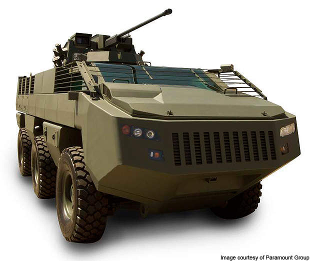Mbombe is a 6 x 6 armoured fighting vehicle.