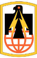 Flag symbol or coat of the 11th Signal Brigade.