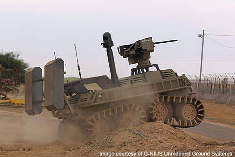 The AvantGuard UGCV is developed by G-NIUS Unmanned Ground Systems of Israel.