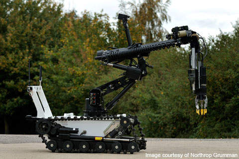 Northrop Grumman unveiled the latest Wheelbarrow Mk9 UGV developed in the UK in April 2010.