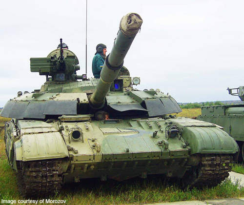 The T-64B has been modernised to meet the technical and combat characteristics of a modern tank.