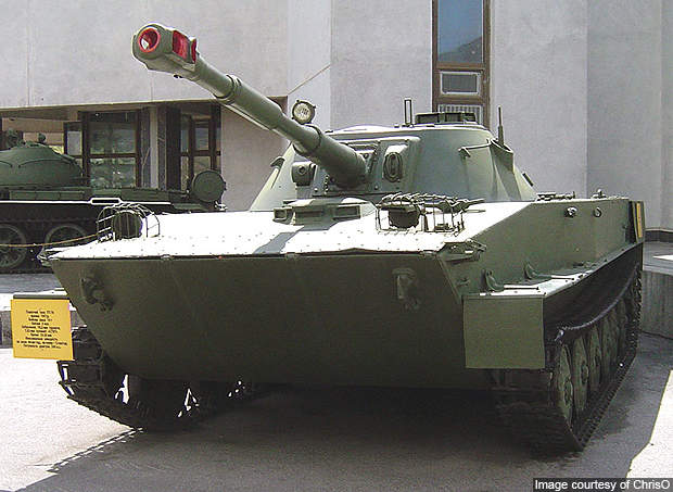 The PT-76 has been in service in various countries since 1952.