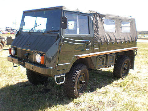 The Pinzgauer all-terrain light utility vehicle.