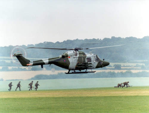 Lynx helicopter during training operations