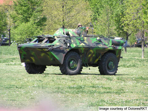 The ABC 79M 4x4 amphibious armoured personnel carrier was produced by ROMARM for the Romanian Army. The vehicle was previously known as TABC 79.