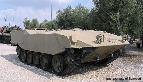 The Achzarit heavy armoured personnel carrier was developed by NIMDA for the Israel Defence Forces.