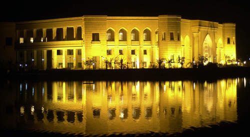The Al Faw Palace, headquarters of the US-led army coalition, was one of the 99 palaces constructed during the reign of the Saddam Hussein in Iraq.