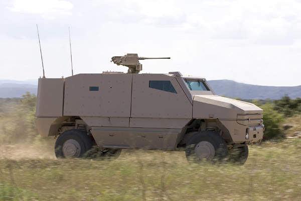 Nexter Systems developed the new Aravis family of multipurpose heavily protected armoured vehicles, first shown at Eurosatory, Paris, in June 2008.