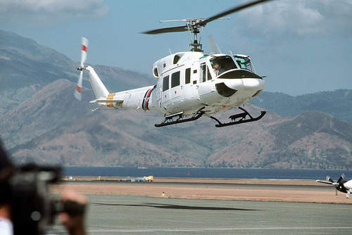 The Bell 212 HP AH Mk is a military utility helicopter operated by the UK's Army Air Corps.