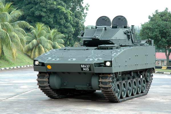 The latest Bionix infantry fighting vehicle variant in Singapore