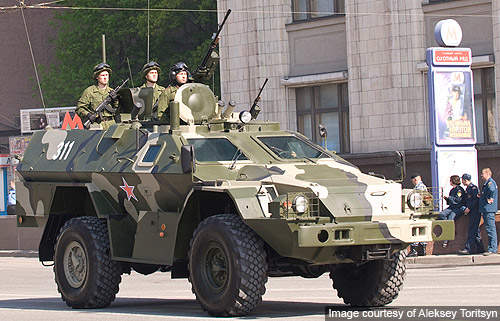 BPM-97 4x4 wheeled multipurpose armoured personnel carrier was developed by Russia-based company Kamaz (Kamskiy Avtomobilny Zavod) for the Russian Army and security forces. Image courtesy of Aleksey Toritsyn.