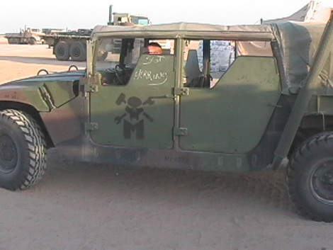 Military Vehicle armed with steel plate