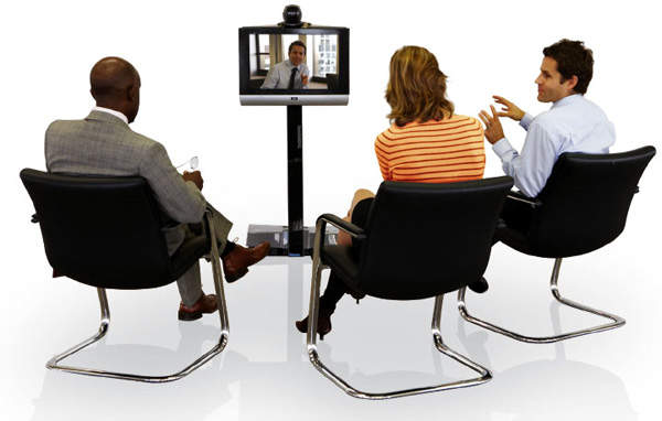 Video call taking place using BT Defence technology
