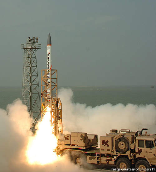 The First Advanced Air Defence (AAD) missile tested in December 2007 from DRDO's Integrated Test Range (ITR) in Wheeler's Island.