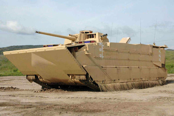 General Dynamics Land Systems's expeditionary fighting vehicle (EFV) personnel variant (EFVP1).