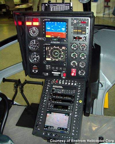 The Enstrom 480B's flight control systems.