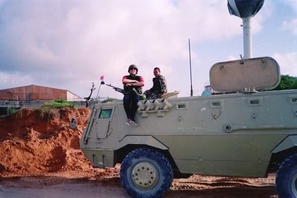 The Egyptian armoured personnel carrier (APC) Fahd during UNOSOM in Somalia. Image courtesy of Ctsnow.