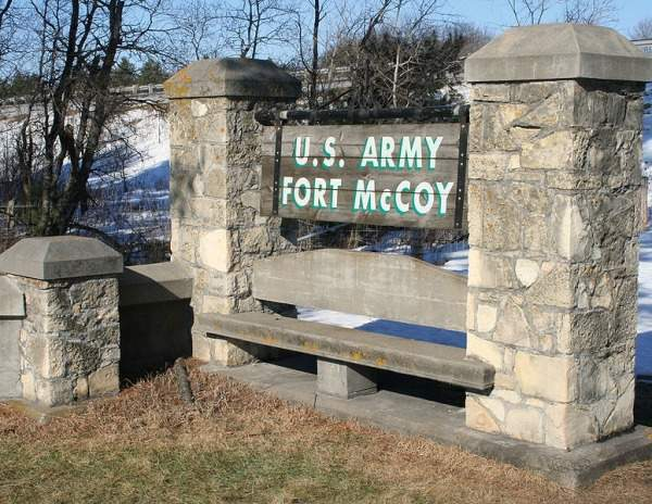 Fort McCoy is an active army training post of the US Army. It is located between Sparta and Tomah, in Monroe County of Wisconsin, USA. Image courtesy of Jonathunder.