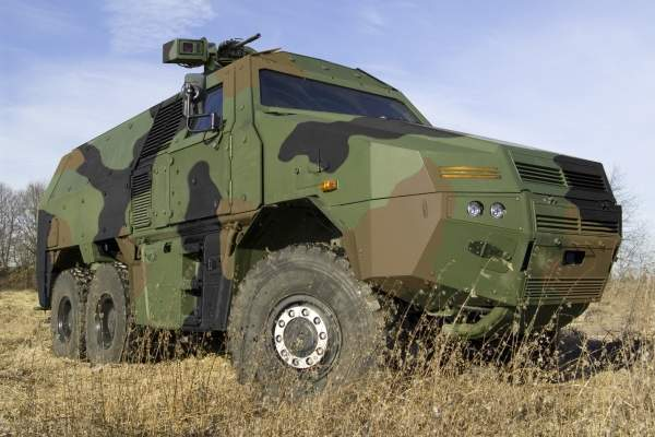 GFF 4 is a six-wheeled highly protected armoured vehicle built primarily for the German Army. Image courtesy of Krauss-Maffei Wegmann.