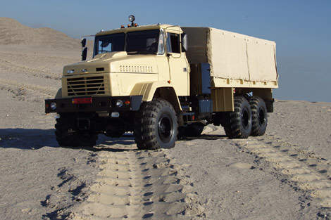 Heavy-Duty Military Vehicle Intended for Heavy Climatic Conditions