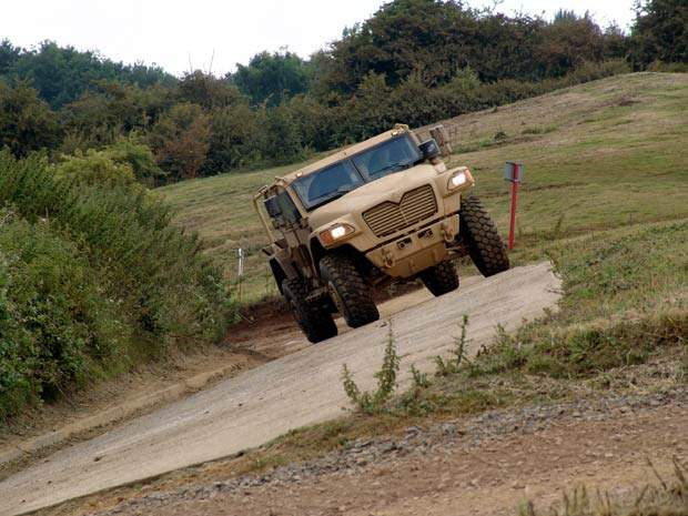 Manufactured by Navistar Defence, the Husky is a medium-armoured high-mobility tactical support vehicle (TSV) based on the International MXT model.