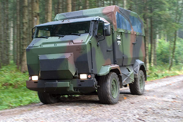 Mungo is an armoured multirole transport vehicle in service with the German Army. Image courtesy of Krauss-Maffei Wegmann.