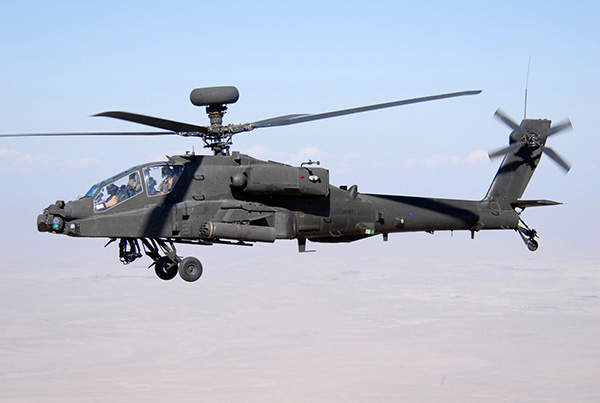 Apache AH Mk1 is an attack helicopter based on the AH-64D Apache helicopter.