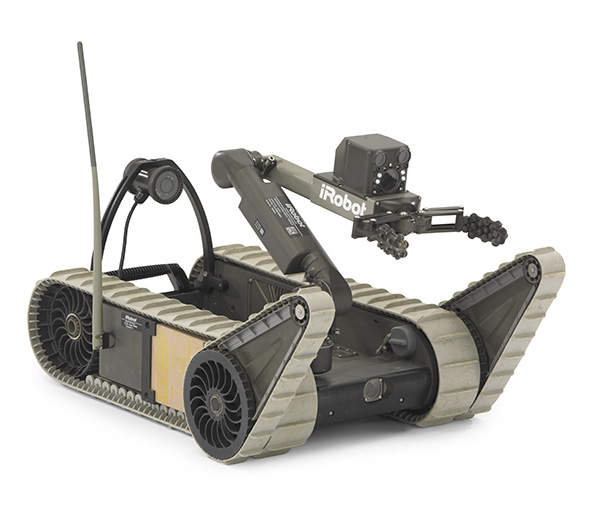 The 310 SUGV (Small Unmanned Ground Vehicle) is a mobile robot produced by iRobot Corporation. Image courtesy of iRobot Corporation.