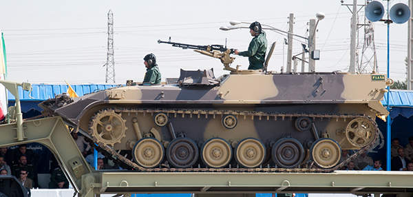 The Boraq armoured vehicle was developed by the Vehicle and Equipment Industries Group (VEIG), for the Islamic Republic of Iran Army. Image courtesy of M-ATF.