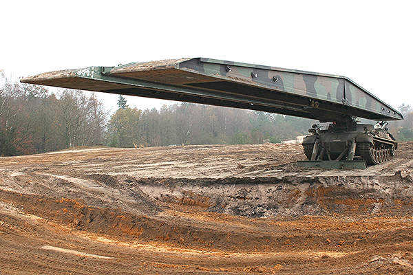 The Leguan bridge laying system is primarily developed for German Army. Image courtesy of Krauss-Maffei Wegmann.
