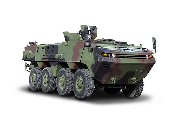 The ARMA 8x8 armoured tactical vehicle was developed for Turkish Armed Forces.