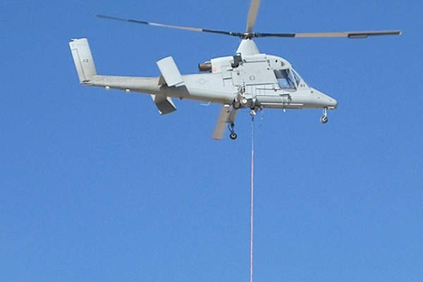 The K-MAX UAS was jointly developed by Lockheed Martin and Kaman Aerospace. Image courtesy of Lockheed Martin.