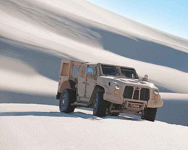 The light combat tactical all-terrain vehicle (L-ATV) was developed by Oshkosh Defence.