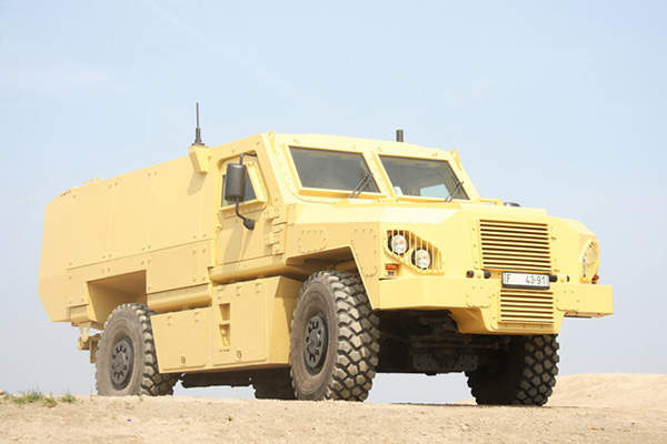 The VEGA 4x4 wheeled armoured personnel carrier is designed by SVOS. Image courtesy of Martin KOLLER.
