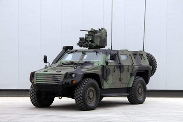 Cobra II tactical wheeled armoured vehicle was unveiled by Otokar in May 2013.
