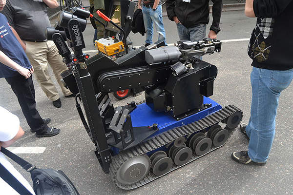 tEODor is an explosive ordnance disposal and observation robot designed by Telerob. Image courtesy of Antti Leppänen.