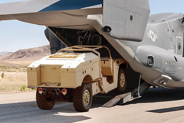 Phantom Badger can be transported inside a V-22 Osprey aircraft. Image: courtesy of Boeing Phantom Works.