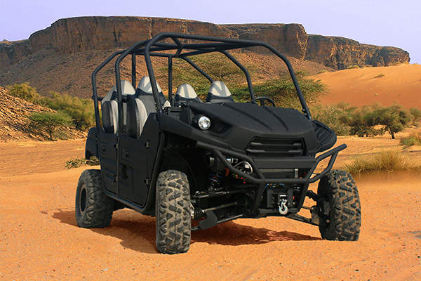 The eXV-1™ is a four-wheeled, ultra-light, stealth utility vehicle. Image courtesy of MILSPRAY.