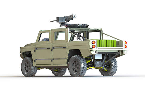 The ATTV light tactical vehicle is being built by Defenture BV. Image courtesy of GDELS.